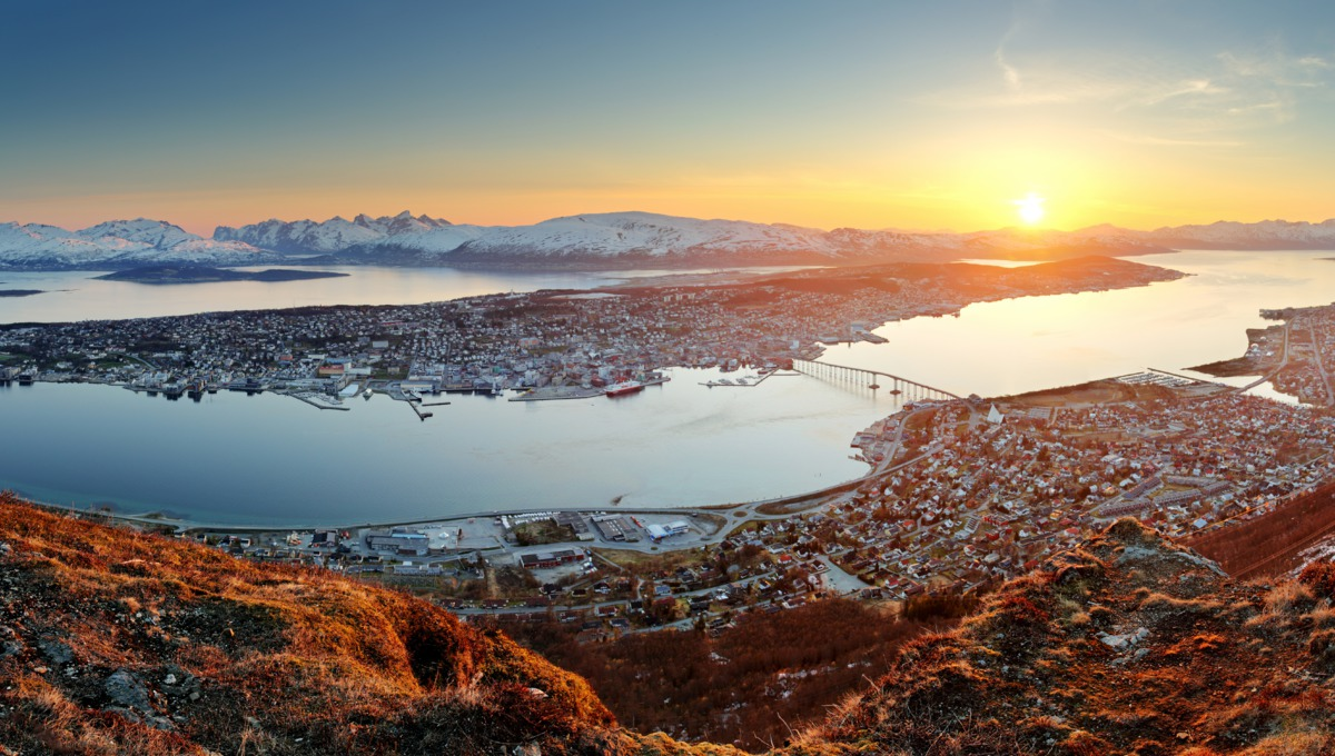 Sunset over Tromso, Norway