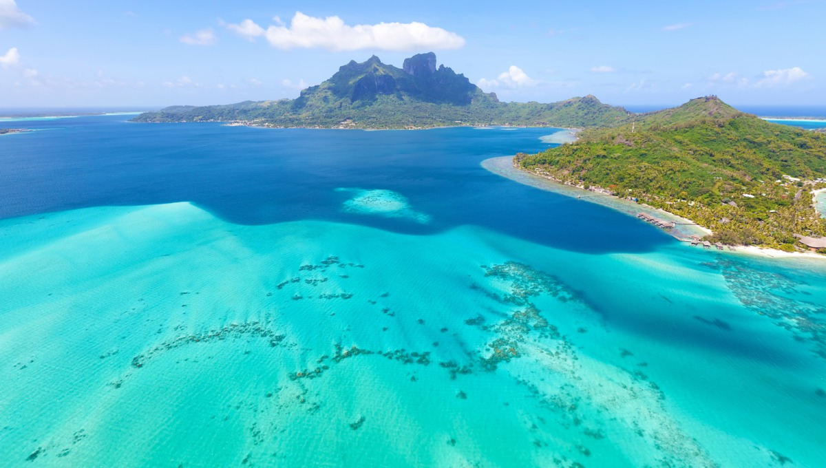 Aerial view of Bora Bora