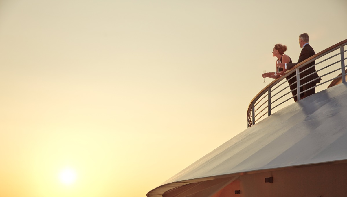 Seabourn Cruises - Couple on the veranda on an all inclusive cruise