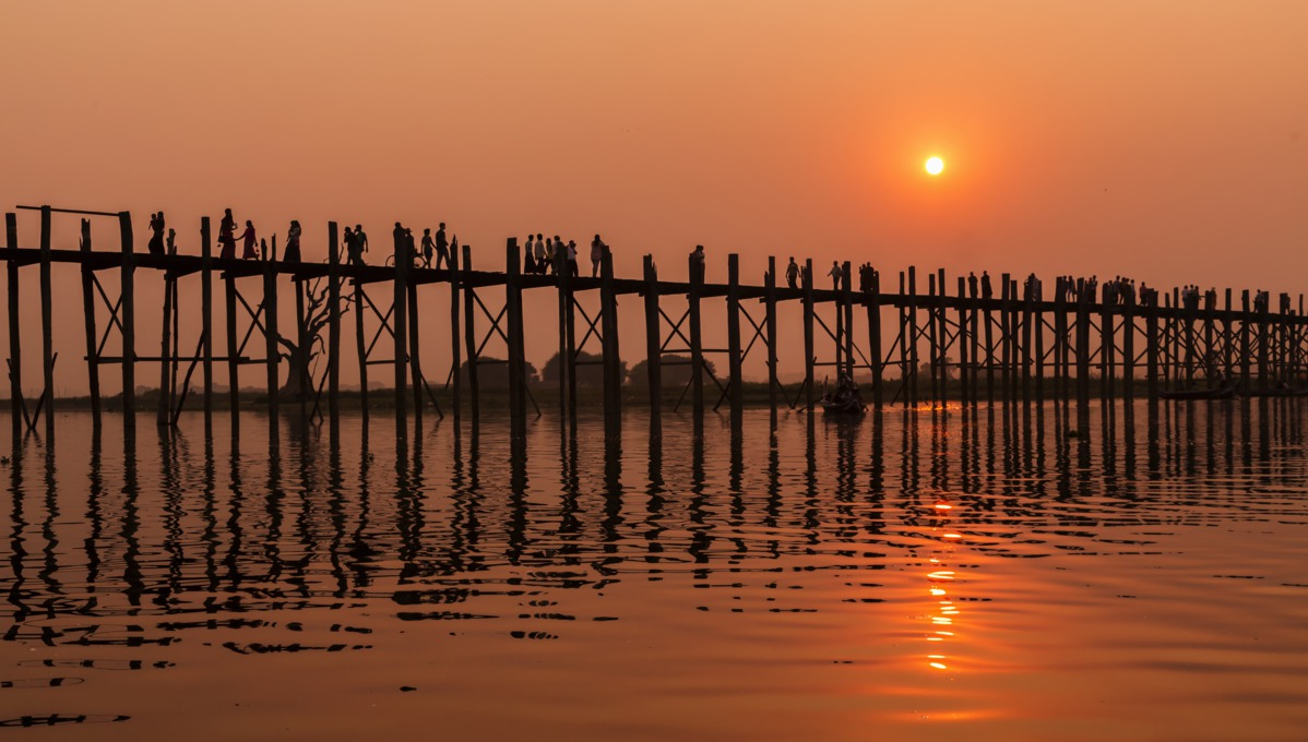 U Bein Bridge, Mandalay, Burma
