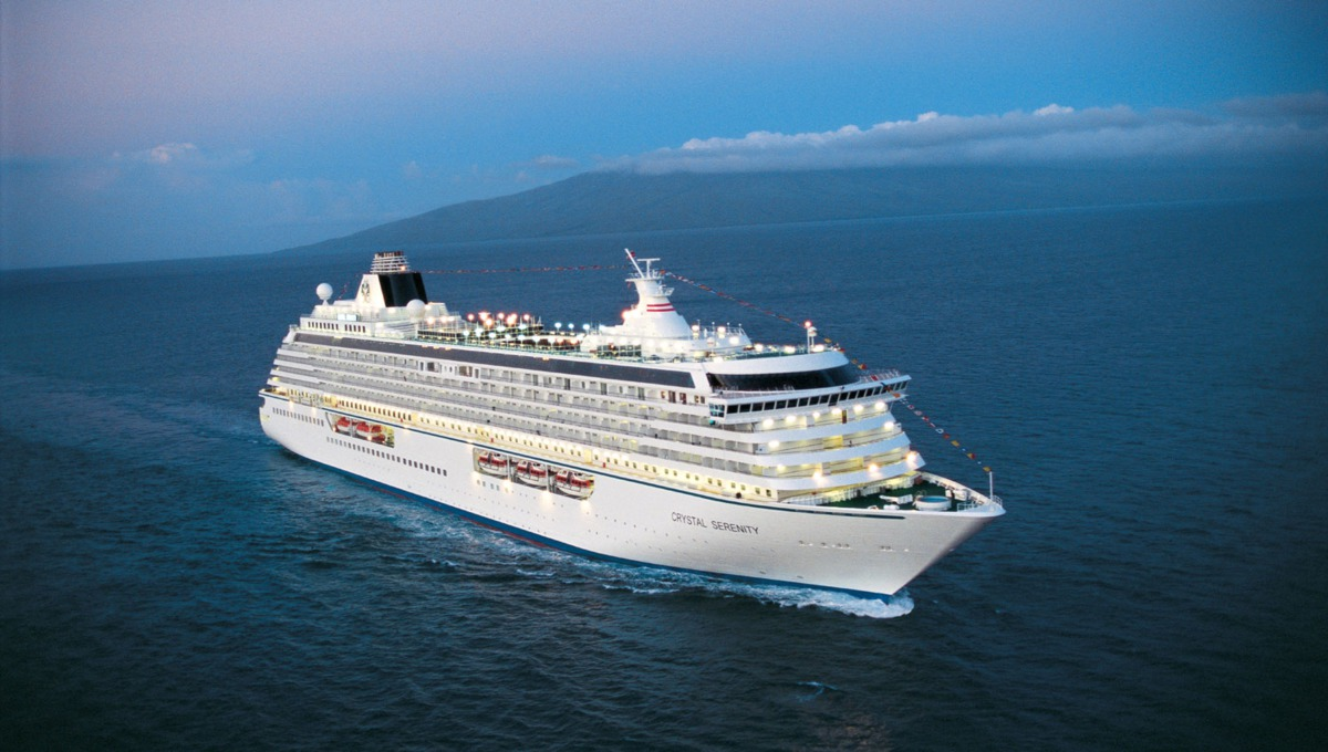 Crystal Serenity, a luxury six star cruise ship