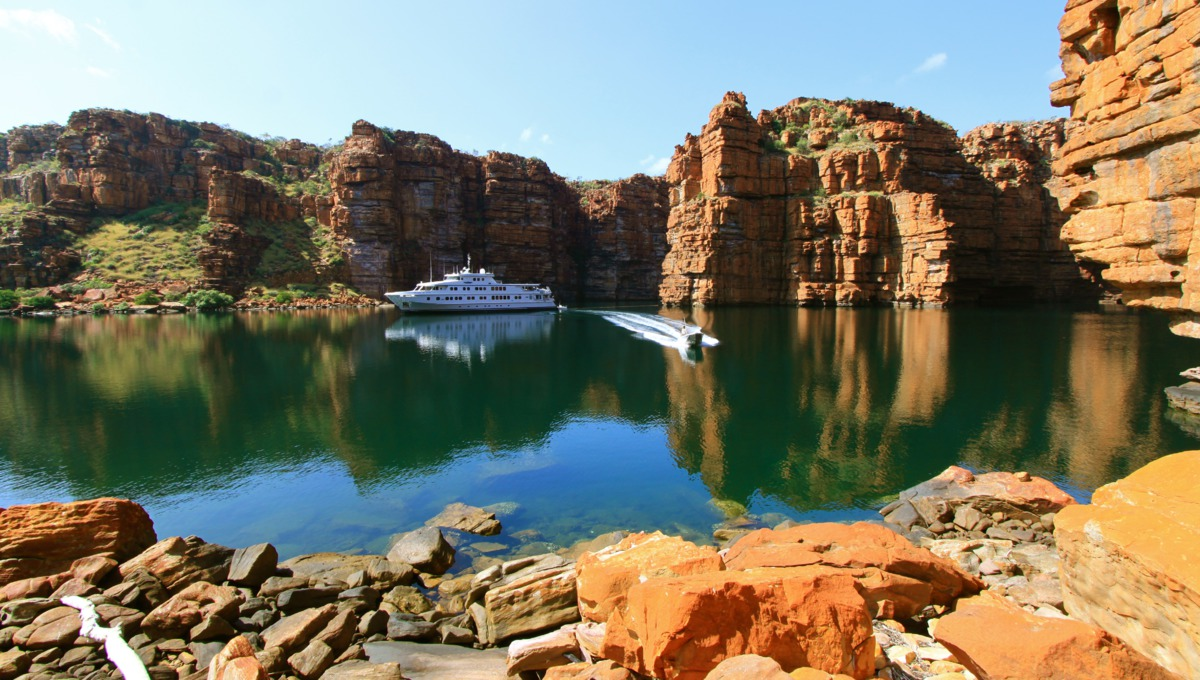 North Star Cruises expedition ship in the Kimberley region, Australia