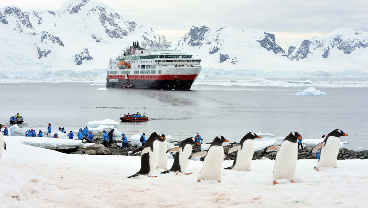 Hurtigruten's expedition cruise ship MS Fram in Antarctica