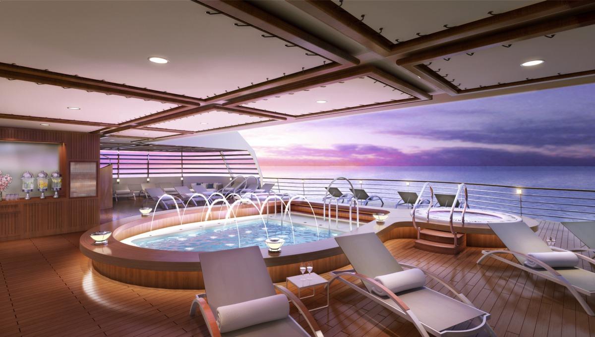 Seabourn Cruises - Seabourn Encore aft pool