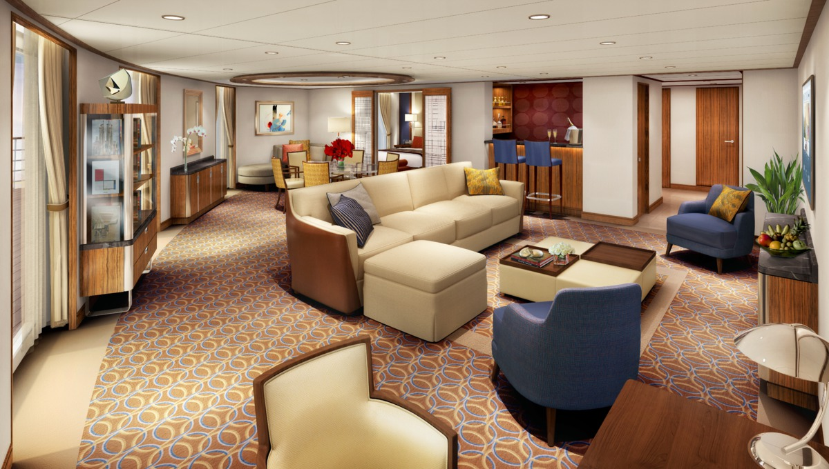 Seabourn Cruises - Signature Suite on the Adam Tihany-designed Seabourn Encore
