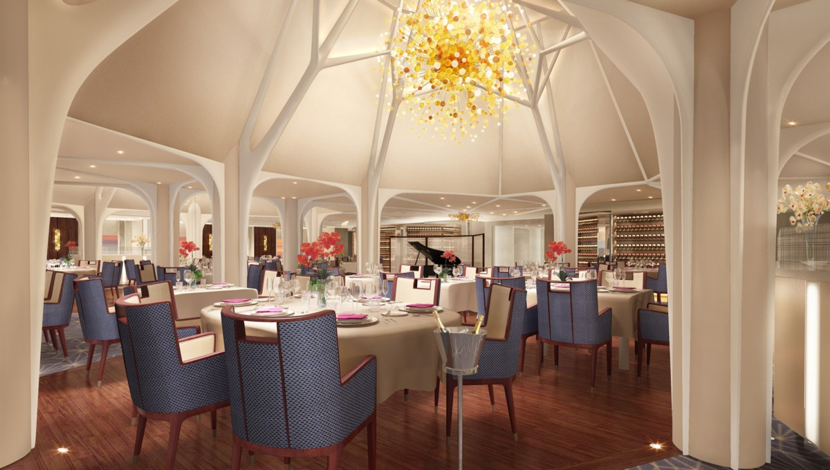 Seabourn Cruises - Seabourn Encore restaurant designed by Adam Tihany