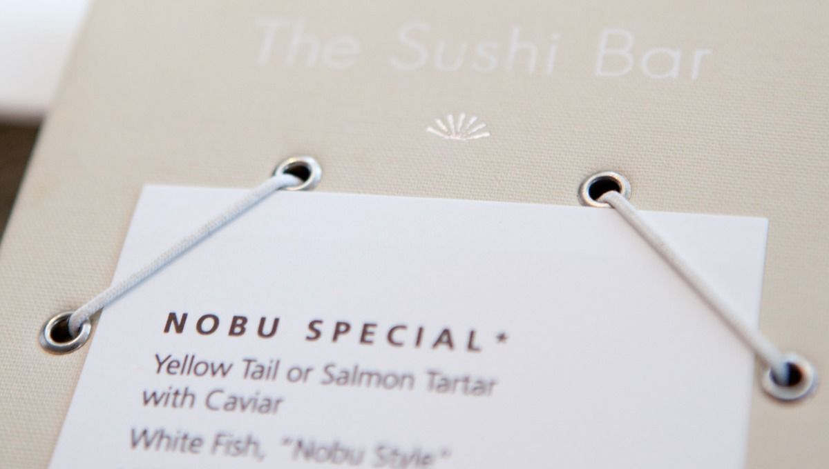 Cruises for foodies - Nobu menu on Crystal Serenity
