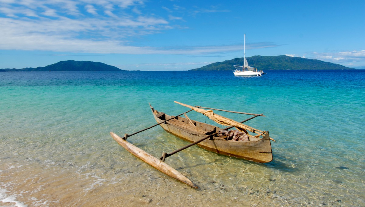 East Africa & Indian Ocean cruises - Canoe in Madagascar