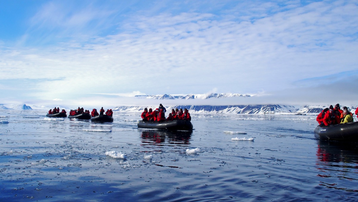 Silversea Expeditions - Zodiacs going ashore in the Arctic