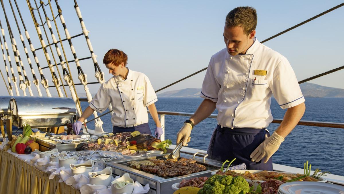 Cuisine on board Sea Cloud II
