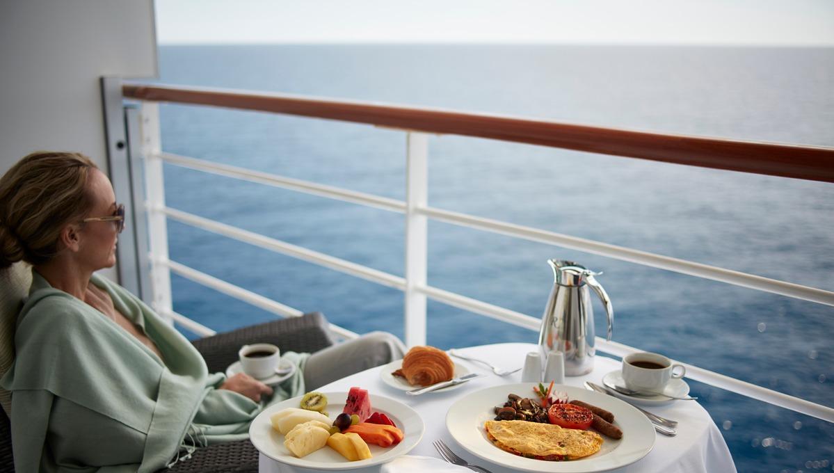 Enjoying a sea day on an Oceania cruise