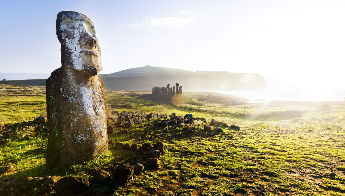 See the mysterious moai statues of Easter Island on a South Pacific expedition cruise