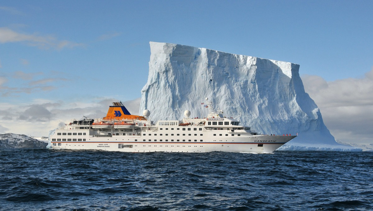 MS Hanseatic of Hapag-Lloyd, one of the best cruise lines visiting Antarctica