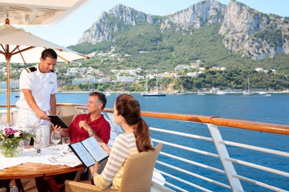 Service on board SeaDream Yacht Club