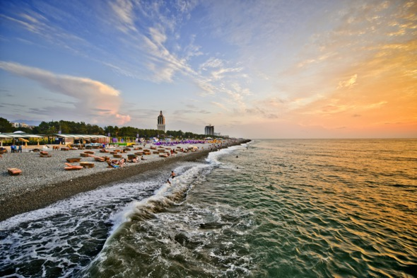 Beach at Batumi, Georgia