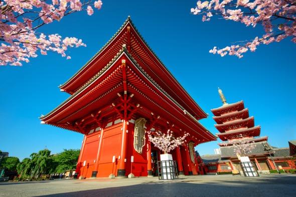 Sensoji-ji temple in Tokyo, Japan