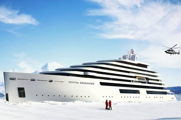 Artist's impression of Crystal Endeavor in the polar regions