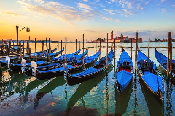 Sunrise over Venice, Italy
