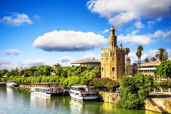 The Guadalquivir river in Seville, Spain