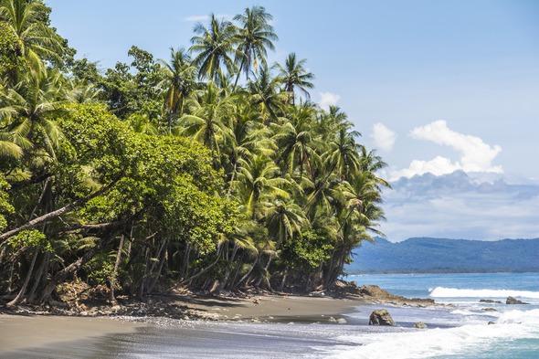 Beach in Corcovado National Park, Costa Rica