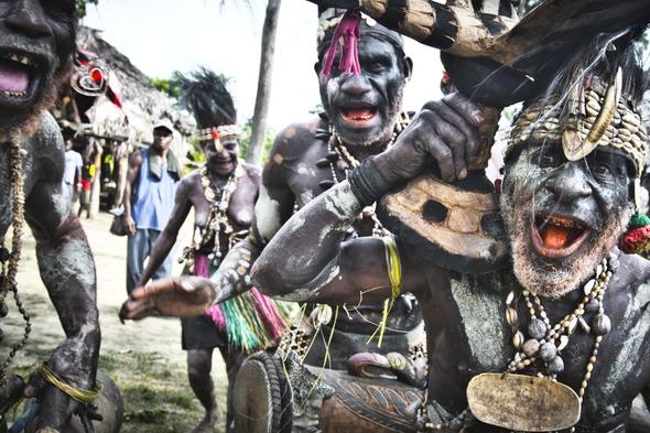 Tribe on the Sepik River, Papua New Guinea
