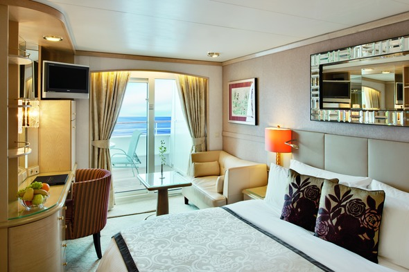 Crystal Symphony - Deluxe Stateroom with Veranda (200 - 300 square feet)