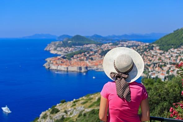 Solo cruise traveller in Dubrovnik, Croatia