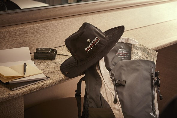 Silver Cloud Expedition - Hat, binoculars and rucksack