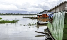 Floating houses, Manaus