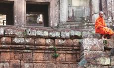 Monk at Angkor Wat, Cambodia