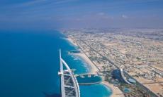 Aerial view of the Burj Al Arab, Dubai