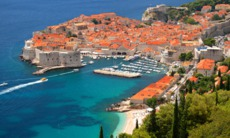Aerial view of the old town, Dubrovnik