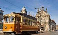 Historic tram in Porto