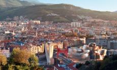 Aerial view of Bilbao, Spain
