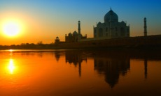 Taj Mahal at sunset