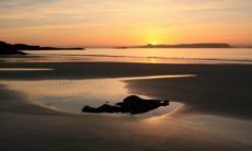 Sunset over the Isle of Eigg, Scotland