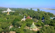 View of Mingun, Myanmar from Pahtodawgyi stupa