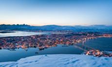 View over Tromso in winter