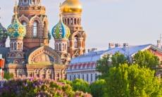Orthodox church in St Petersburg, Russia