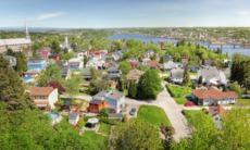 Saguenay city and river, Canada