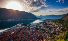Sunrise over the Bay of Kotor, Montenegro