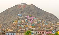 Hillside barrio in Lima, Peru