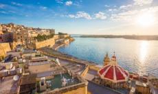 Sunrise over Valletta, Malta