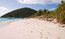 Beach on Jost Van Dyke, British Virgin Islands