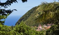 Saba island in the Dutch Caribbean