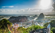 View from the Marble Mountains near Da Nang, Vietnam