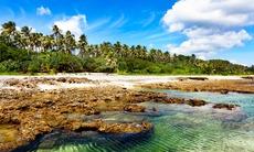 Lava beach on Tanna island, Vanuatu