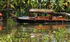 Kerala backwaters near Kochi, India