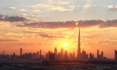 Sunset over Dubai
