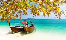 Long tail boats in Phuket, Thailand